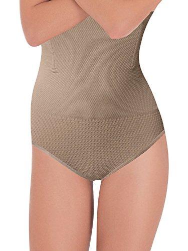 Guaina Seamless G3002 Modellante e Snellente a Vita Alta Senza Cuciture in Microfibra Elastica contenitiva, con Stecche Flessibili Ventre Piatto con Azione Micromassaggiante su Addome e Pancia Nudo