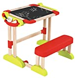 Smoby Smoby Roleplay Deluxe Art Wooden Desk and Easel, 23-Inch Playset