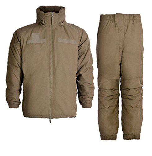 FR Extreme Cold Weather Parka & Trousers FR ECWCS L7 (Non Military Issue) Coyote Tan (Large Long) (Weather Extreme Cold Parka)