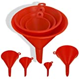 1 X 4-Size Plastic Funnel Set for Liquids Dry Goods by ProTool