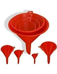 CheckOut 1 X 4-Size Plastic Funnel Set for Liquids Dry Goods save