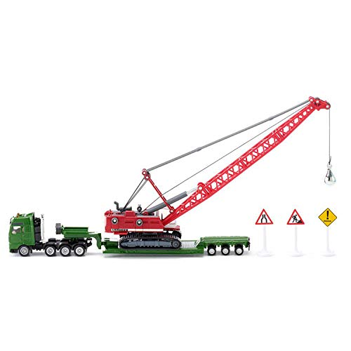 Siku Heavy Haulage Transporter with Excavator and Service Vehicle