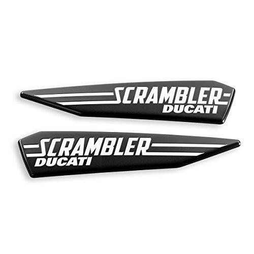 Ducati Scrambler Icon Logo Gas Tank Decal Set Black 97480101A