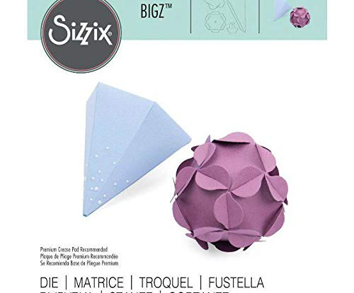 Pyramid and Ornate Ball - Carving Template Bigz, Sizzix, Decoration, Shot Embossing, Scrapbooking Paper