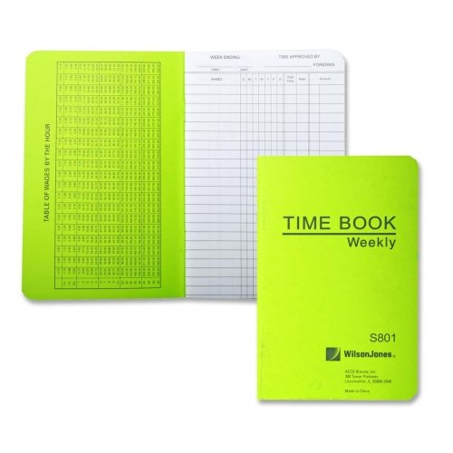 Wholesale CASE of 25 - Acco/Wilson Jones Foreman's Pocket Size Time Books-Time Book, Pocket Size, Weekly/1 Page, 6-3/4''x4-1/8'', White