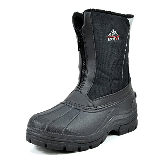 arctive-glam-mens-insulated-waterproof-construction-rubber-sole-winter-snow-skii-boots-black-size-8