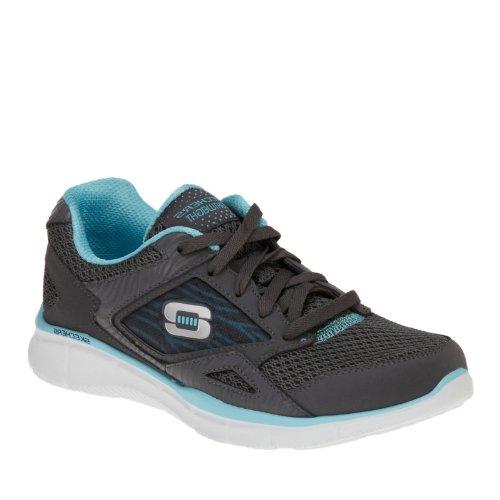 Skechers Mujeres Equalizer Running Shoe Carbón / Azul Claro