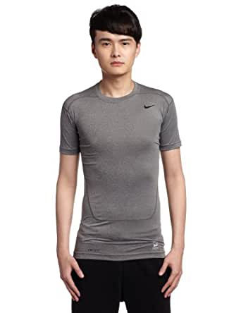 Nike Mens Core 2.0 Compression Short Sleeve SS Top Carbon Heather/Black 449792-702 Size Small