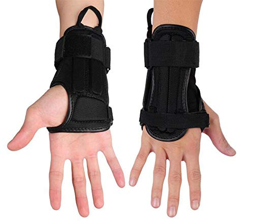 SULAITE Impact Wrist Guard Fitted Wrist Brace Wrist Support for Snowboarding, Skating, Motocross, Street Racing, Mountain Biking, Weightlifting (S)