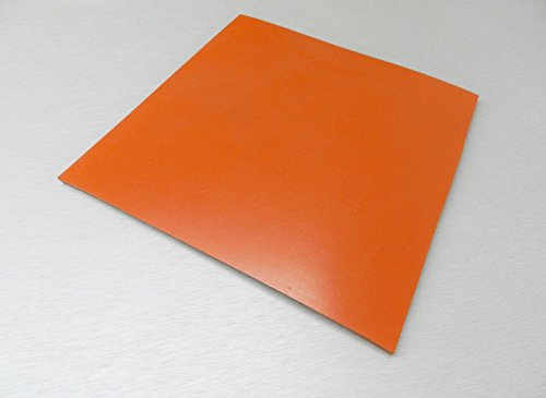 "1/4"" SILICONE RUBBER SHEET HIGH TEMP SOLID RED/ORANGE COMMERCIAL GRADE 8""x8"" SQ (E12)"