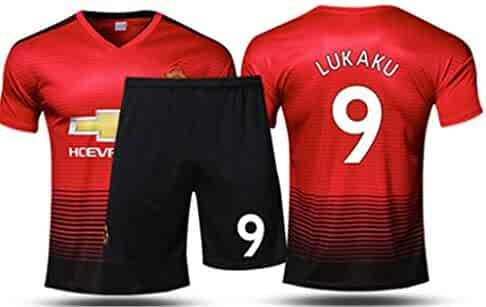 ffa0857d164 LISIMKE 2018 19 Manchester United Lukaku 9 Home Men s Soccer Jersey Kid  Youth Replica Jersey