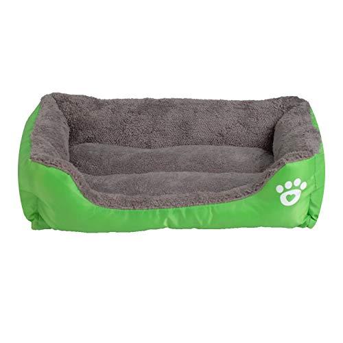 9 Colors Pet Sofa Dog Beds Waterproof Bottom Soft Fleece,Green,S