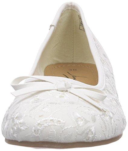 Jane Klain 221 807 - Bailarinas Mujer blanco - Weiß (white 107)