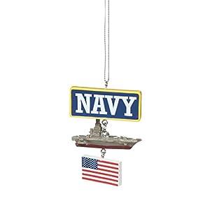Navy Battleship Resin Stone Military Christmas Ornament
