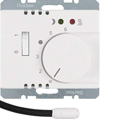 Hager - Placa termostato suelo radiante interruptor +lente+ ...