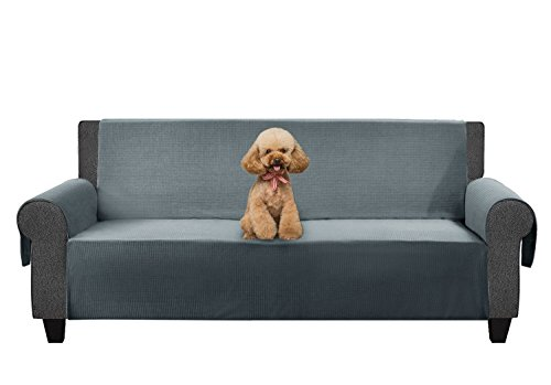Waterproof Dog Sheet - YEMYHOM 100% Non-Slip Couch Cover Anti-Leakage Pet Sofa Protector Durable Furniture Slipcover (Sofa, Light Gray)