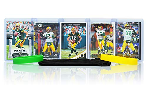 Aaron Rodgers Football Cards Assorted (5) Bundle - Green Bay Packers Trading Cards (Youth Aaron Rodgers)