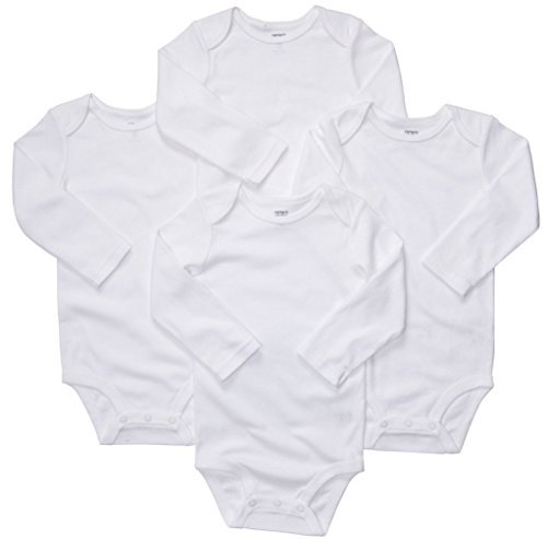 (Carter's Long Sleeve White Onesies (24 Month , 4 Per Pack))