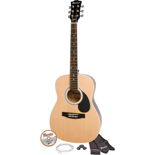 "Gibson Innovations 6 String Maestro Acoustic Pack (38"" length), Natural Parlor MA38NACH1"