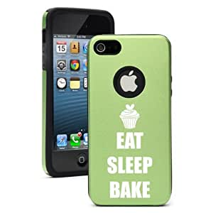 Apple iPhone 5c Green CD2325 Aluminum & Silicone Case Cover Eat Sleep Bake