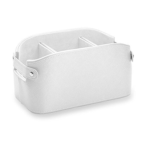 Levenger Luster Organization Basket - White Pearl (AD8315 WHPR) by Levenger