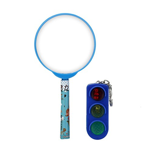 Price comparison product image Boofab Lovely Plastic Magnifying Glass Handheld Magnifier Toy Reading Aid Gift Kids Toy
