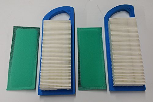 - 2 Air Filters Plus 2 Pre-Filters, Air Filters For Briggs & Stratton 795115 797008 794472 697153 697014 697634 698083 695547 697776, Pre-Filter Replaces 697015. Same as John Deere GY20573, M147489, M149171