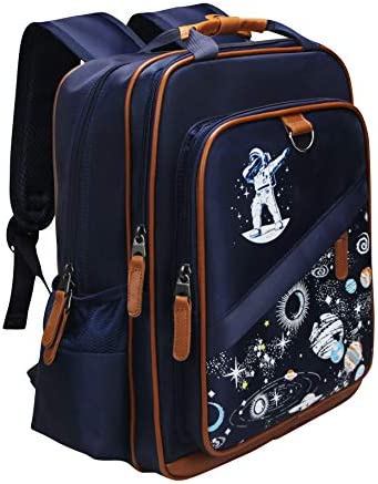 School Backpack 15 with Laptop Sleeve Kids Galaxy Space Book Bag Dabbing Spaceman Astronaut Stars Rucksack Lightweight Water Resistant and Durable for Travel and Hiking