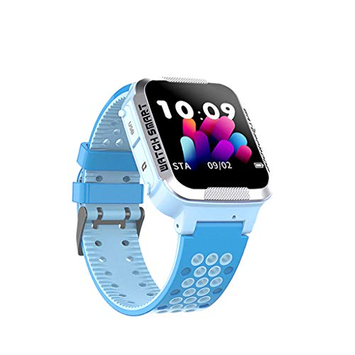 QIUSge Waterproof Children's Smart Watch, Phone Tracker Positioning Smartwatch, to Care About Your Baby More (Blue) (Best App For Recording Phone Conversations)
