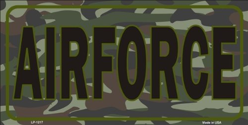 (Smart Blonde United States Air Force Camouflage Novelty Vanity Metal License Plate Tag Sign)