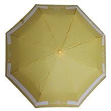 COACH F63689 Lock Up Retractable Umbrella, SV/Canary/Chalk
