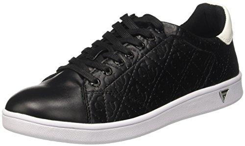 GUESS Super, Zapatillas de Tenis para Mujer Negro (Nero)