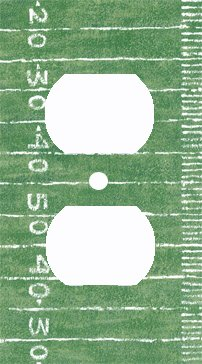 Football Switchplate Cover (Football Field Decorative Outlet Cover)