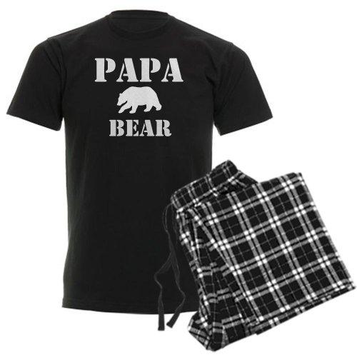CafePress Papa Mama Baby Bear Men's Dark Pajamas Unisex Novelty Cotton Pajama Set, Comfortable PJ Sleepwear