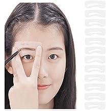 HaloVa Eyebrow Stencil Kit, Reusable Environmental-friendly Popular Eyebrow Drawing Guide Card, Makeup Tools for Eyebrows Powdering, 1 Set of 8 Styles