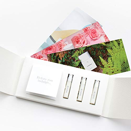 Perfume Sample Set for Women by PHLUR - Clean, Hypoallergenic, Vegan and Cruelty Free. Includes Hanami, Sandara & Améline Fragrances (2 ml)