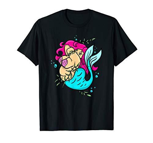 Mermaid Chubby Pinup Girl Nautical Tattoo Flash BBW T-Shirt
