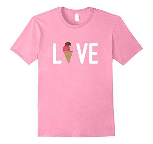 Mens Love Ice Cream Cone Junk Food Addict Foodie T-Shirt 2XL - Junk Food Addict