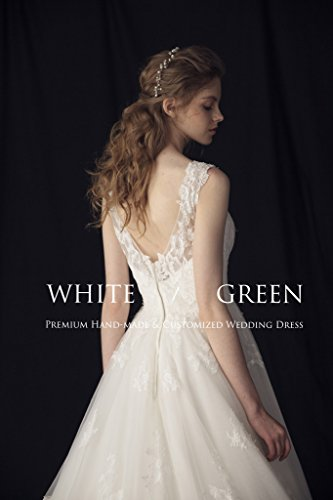 White Green 2017 strap vintage backless empire skinny A type temperament wedding dress bride train custom wedding dress