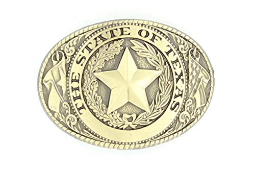 Nocona Men's The State of Texas Buckle, Silver, OS (Tony Lama State Of Texas Belt Buckle)