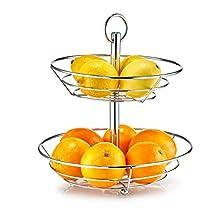 Zeller 27302 Estante de Frutas, Metal, Plateado, 26x26x29 cm