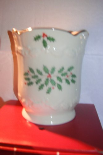 Lenox Holiday Candle -Scented / Pierced Ivory China Holder