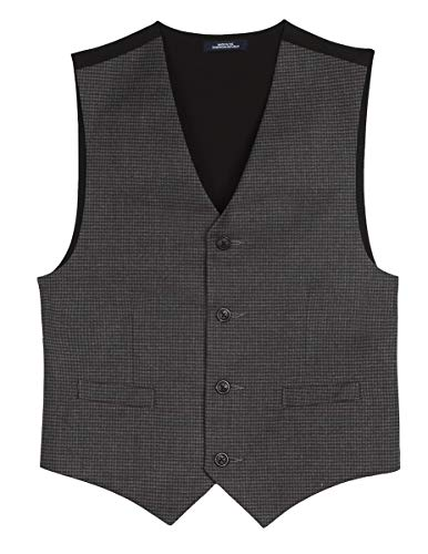 Chaps Boys' Suit Vest, Dark Charcoal L14/16
