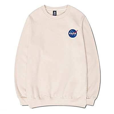 CORIRESHA Fashion NASA Logo Print Hoodie Sweatshirt with Pocket(Smaller Than Standard Size) at Women's Clothing store