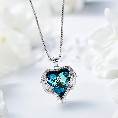 NEHZUS Heart of the Ocean Love Heart Pendant Necklace for Girlfriend Love Wife,Crystal from Swarovski by NEHZUS (Image #1)