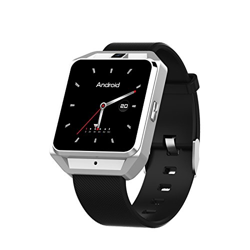 (LYJNBB Smart Watch - 4G LTE Call Camera Watch 1GB RAM 8GB ROM Built-in BT4.0/GPS/Heart Rate Monitor/Fitness Tracking Sports Smartwatches,Silver )