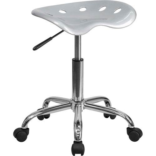 Parkside Vibrant Silver Tractor Seat and Chrome Stool by Parkside