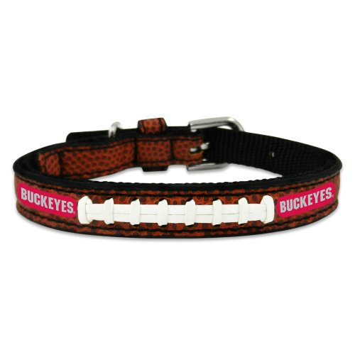 Ohio State Leather Dog Collar