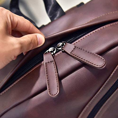 for Mens and Woman Travel College Business Bag,Waterproof PU Leather Backpack for Laptop Notebook Books Computer Laptop Backpack