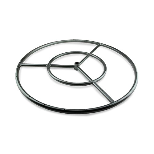 Fire Ring Burner for Fire Pits and Fireplaces | 18 Inch, Black Metal Burner | Includes Connector Kit